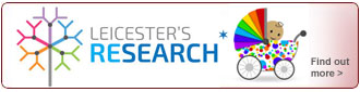 Leicester's Research Maternity button